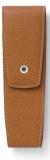 Etui 2 instrumente de scris, piele granulata, maro Graf Von Faber-Castell