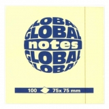 Notite adezive 75 x 75 mm Global Notes