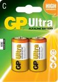 Baterie alcalina R14, 2 buc/blister Ultra GP