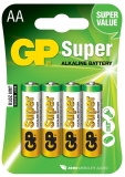 Baterii AA R6 Alkaline 4buc/blister GP