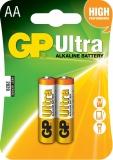 Baterie alcalina R6 (AA), 2 buc/blister, Ultra GP