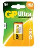Baterie alcalina, 9V, 1 buc/blister Ultra GP