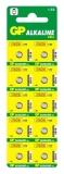 Baterie alcalina tip buton, AG4, 10buc/blister GP
