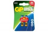 Baterie alcalina R3 (AAA), 2 buc/blister, Ultra Plus GP