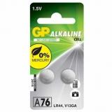 Baterie alcalina tip buton, AG13, 2 buc/blister GP