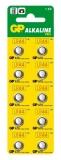 Baterie alcalina tip buton, AG13, 10buc/blister GP
