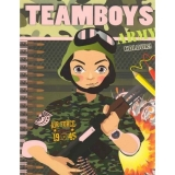 Carte de colorat Teamboys colour - Army