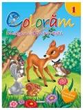 Carte de colorat cu abtibilduri Coloram 1 - Imagini din povesti