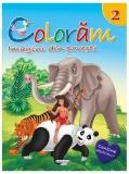 Carte de colorat cu abtibilduri Coloram 2 - Imagini din povesti