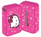 Penar neechipat 2 fermoare Hello Kitty roz Pigna