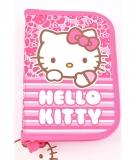 Penar neechipat 1 fermoare 2 compartimente roz dungi Hello Kitty Pigna