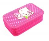 Penar neechipat 3 fermoare Hello Kitty roz buline Pigna