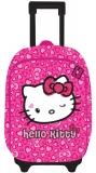 Ghiozdan troller 2 fermoare Hello Kitty roz Pigna