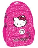Ghiozdan 3 compartimente clasele 1-4 Hello Kitty roz Pigna