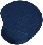 Mousepad cu suport incheietura mini Ergonomic, albastru Hama