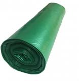 Saci menaj LDPE verde, 120 L, 10 buc/set