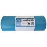 Saci menajeri LDPE albastru, 120 L, 10 buc/rola Super Horeca