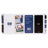 Cap Imprimare & Cleaner Black Nr.80 C4820A Original Hp Designjet 1050