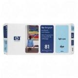 Cap Imprimare & Cleaner Light Cyan Nr.81 C4954A Original Hp Designjet 5000