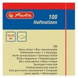 Bloc notite adezive 75 mm x 75 mm 100 file galben Herlitz