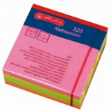 Notite adezive Neon 75 mm x 75 mm 320 file Herlitz