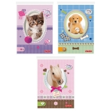 Bloc notes A6 46 file ar Pretty Pets Herlitz