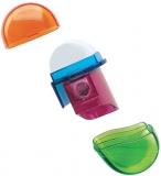 Ascutitoare + radiera plastic ovala 2 in 1 diverse modele Herlitz