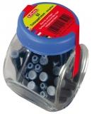 Patroane cerneala mici, albastru, in borcan, 50 buc/set Herlitz