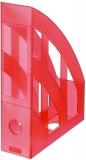 Suport dosare A4 rosu translucid Herlitz