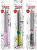 Creioane grafit triunghiulare lacuite My.Pen, HB, diverse culori 2 buc/set Herlitz