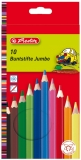 Creioane color hexagonale Jumbo 10 buc/set Herlitz