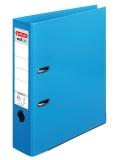 Biblioraft A4 PP 80 mm chromocolor albastru deschis Herlitz