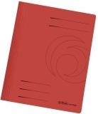 Dosar carton color, rosu, cu sina, Herlitz