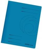 Dosar carton color, albastru, cu sina, Herlitz