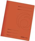 Dosar carton color, orange, cu sina, Herlitz