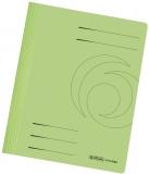 Dosar carton color, verde, cu sina, Herlitz