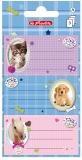 Etichete scolare Pretty Pets 9 buc/set Herlitz
