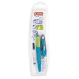 Stilou pentru stangaci My.Pen, penita L, albastru/neon Herlitz