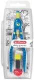 Compas My.Pen cu sistem setare rapida albastru inchis/lime Herlitz