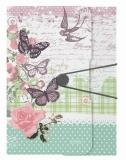 Mapa PP A4 cu elastic Ladylike fluture Herlitz