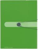 Dosar plic A4 Easy Orga to go 12 compartimente verde opac Herlitz