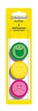Memo sticker rotund Smiley World 3 culori 120 file/set  Herlitz