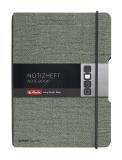 Caiet My.Book Flex A6 40 file patratele gri Herlitz