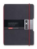 Caiet My.Book Flex A6 40 file patratele negru Herlitz