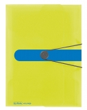 Mapa A4 PP buton cu elastic Sporty Lemon Herlitz