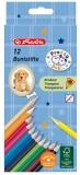 Creioane colorate 12 culori triunghiular Pretty Pets Herlitz