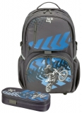Rucsac Be.Bag + necessaire Cube Motorracer Herlitz