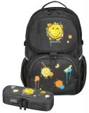 Rucsac Be.Bag + necessaire Cube Smiley World Herlitz