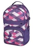 Rucsac Be.Bag ergonomic Cube Purple Checked Herlitz