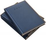 Agenda Herlitz, A5, datata, Premium DeLuxe Vienna, albastru inchis, 2021